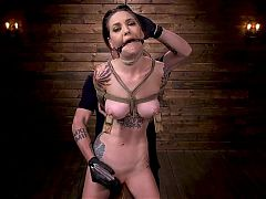 Sexy Tall and Tatted Alt Babe submits to BDSM