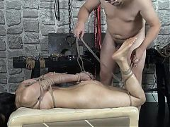 Wild chinese model Zuzu in bondage sex